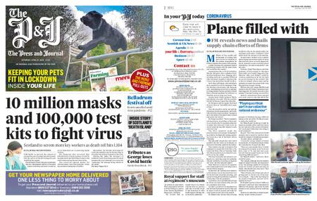 The Press and Journal Moray – April 25, 2020