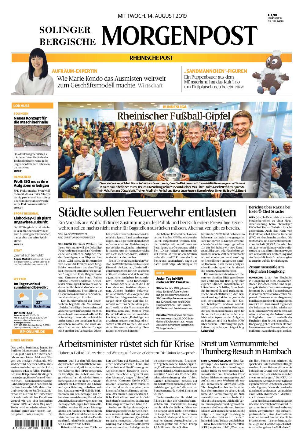 Solinger Morgenpost – 14. August 2019