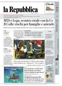 la Repubblica - 24 Ottobre 2018