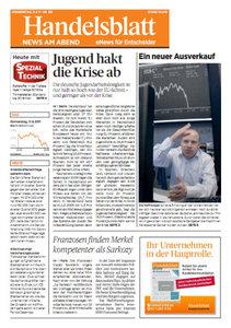 Handelsblatt News am Abend vom 11.08.2011