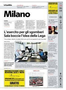la Repubblica Milano - 28 Giugno 2018