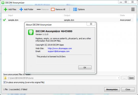 DICOM Anonymizer 1.11.0