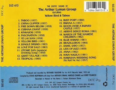 Arthur Lyman - The Exotic Sound Of The Arthur Lyman Group (1991) {DCC Steve Hoffman} **[RE-UP]**