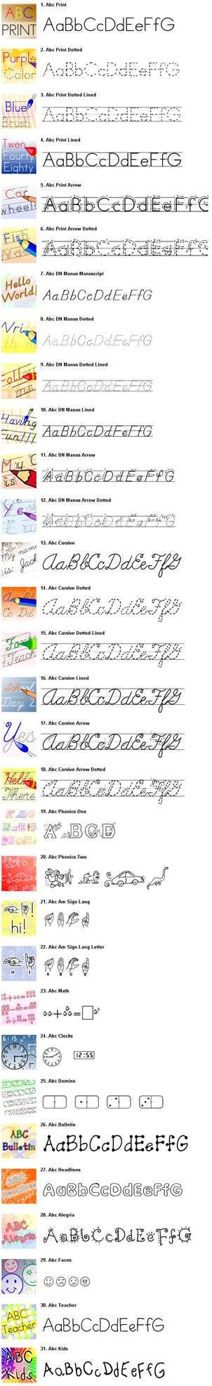 Fonts 4 Teachers [31 Fonts]