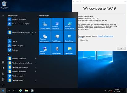 Microsoft Windows Server 2019 Build 17763.720