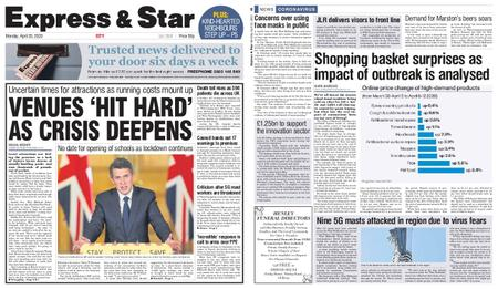 Express and Star City Edition – April 20, 2020
