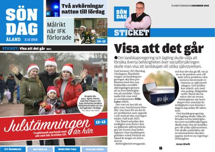 Ålandstidningen – 02 december 2018