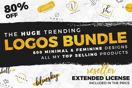 CreativeMarket - Huge Trending Logos Bundle