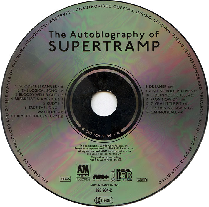 Supertramp The Autobiography Of Supertramp 1986 Avaxhome