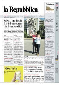 la Repubblica - 5 Gennaio 2018