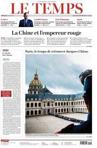 Le Temps - 30 septembre 2019