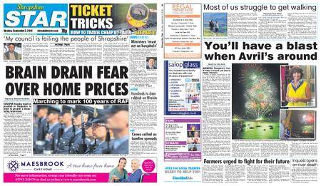 Shropshire Star Shrewsbury Edition – September 03, 2018