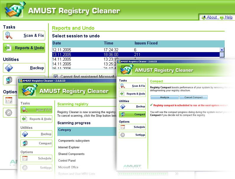 AMUST Registry Cleaner 3.11
