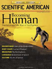 Scientific American Special Edition: Becoming Human (August 2006, PDF)