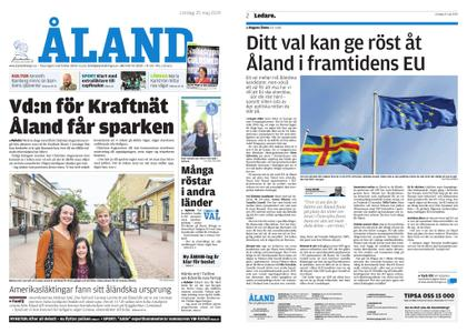 Ålandstidningen – 25 maj 2019