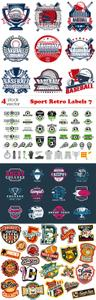 Vectors - Sport Retro Labels 7