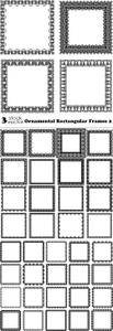 Vectors - Ornamental Rectangular Frames 2