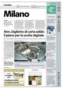la Repubblica Milano - 7 Settembre 2018