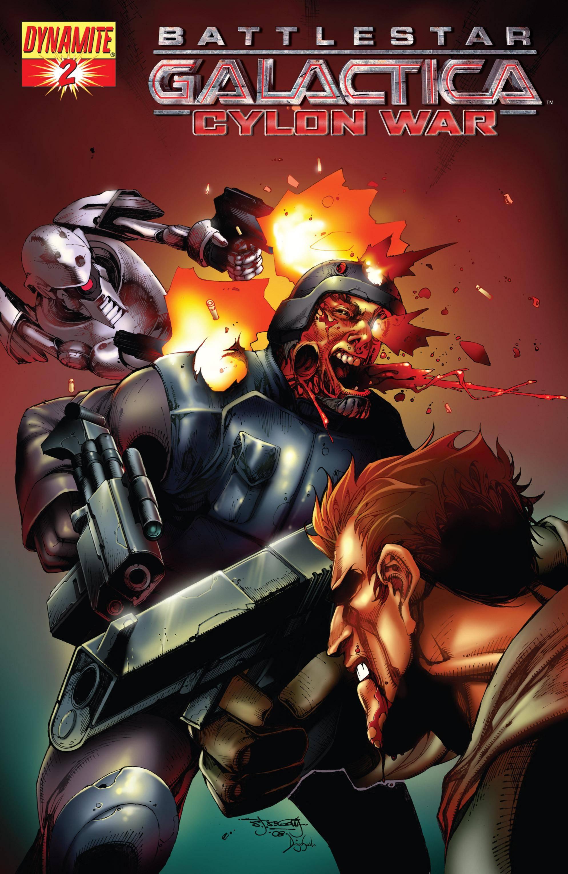 Battlestar Galactica - Cylon War 002 2009 2 covers digital