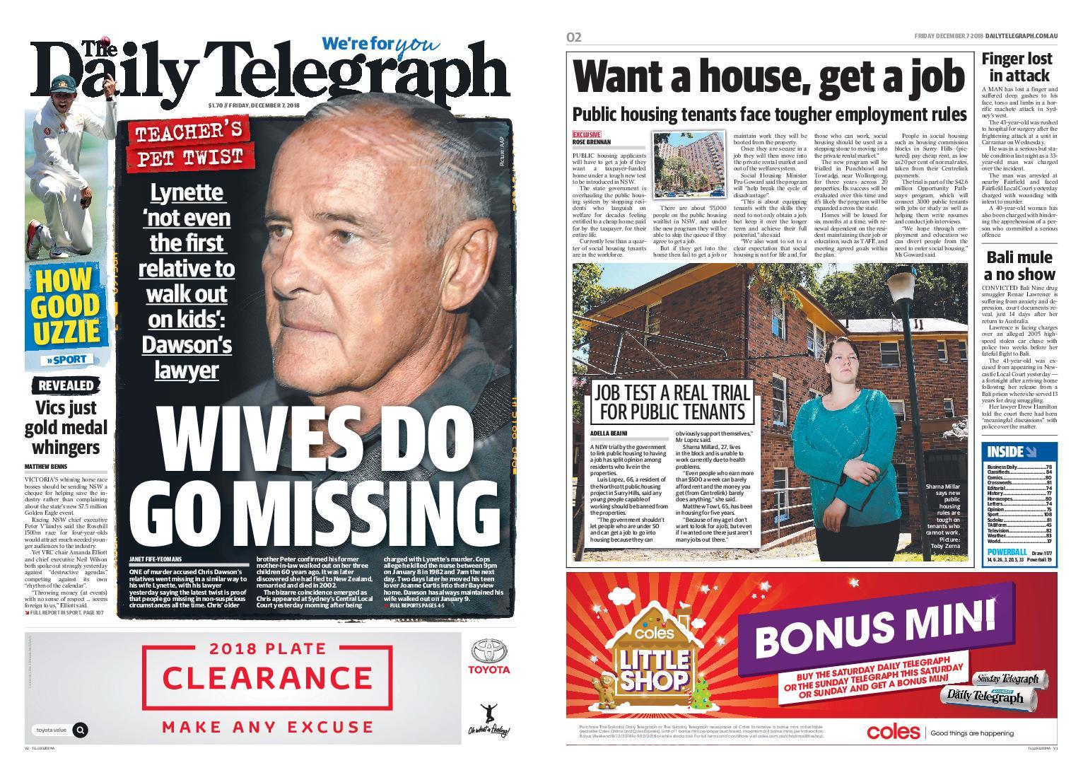 The Daily Telegraph (Sydney) – December 07, 2018