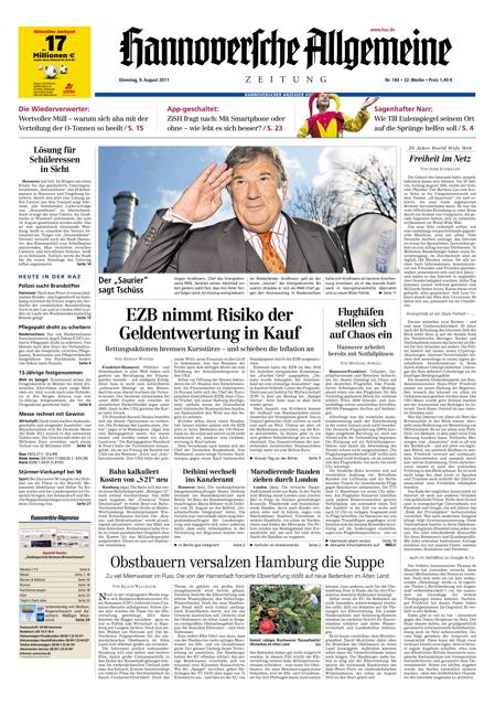 Hannoversche Allgemeine Zeitung - 09.08.2011