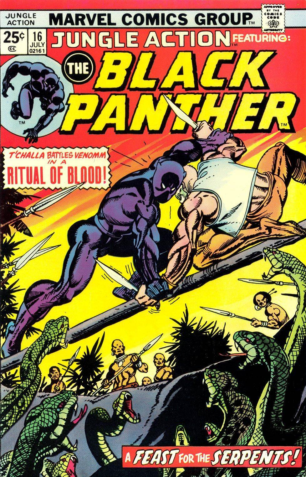 Jungle Action v2 016 featuring Black Panther