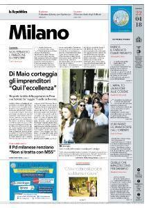 la Repubblica Milano - 22 Aprile 2018