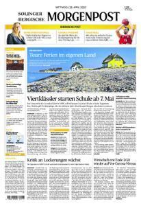 Solinger Morgenpost – 29. April 2020