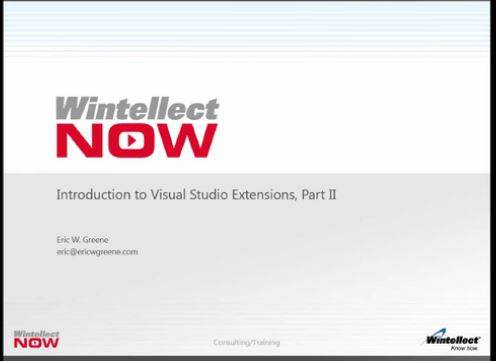 Introduction to Visual Studio Extensions, Part 2
