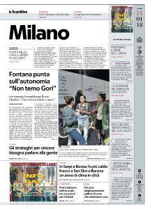 la Repubblica Milano - 11 Gennaio 2018