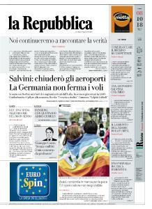 la Repubblica - 8 Ottobre 2018