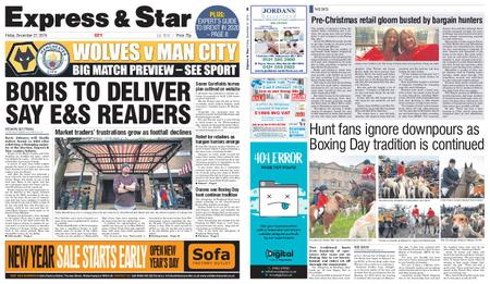 Express and Star City Edition – December 27, 2019