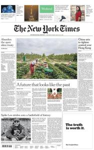 International New York Times - 23-24 May 2020