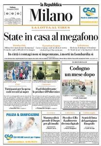 la Repubblica Milano - 21 Marzo 2020