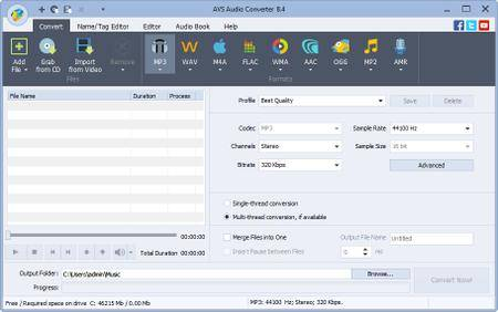 AVS Audio Converter 9.1.1.597 Portable