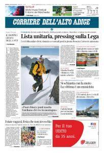 Corriere dell'Alto Adige - 29 Luglio 2018