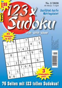 123 x Sudoku Nr.2 - 28 Februar 2020