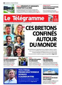 Le Télégramme Brest Abers Iroise – 27 mars 2020