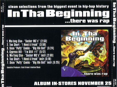 VA - In Tha Beginning...there was rap (Clean Selections) (US promo CD5) (1997) {Priority} **[RE-UP]**
