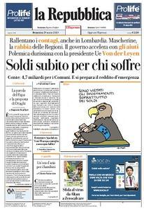 la Repubblica - 29 Marzo 2020