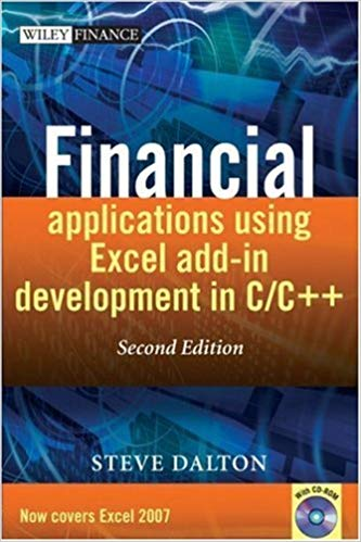 Financial Applications using Excel Add-in Development in C / C++ (Repost)