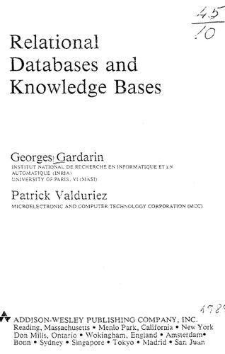 Relational Databases and Knowledge Bases (Repost)
