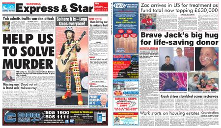 Express and Star Sandwell Edition – November 14, 2018