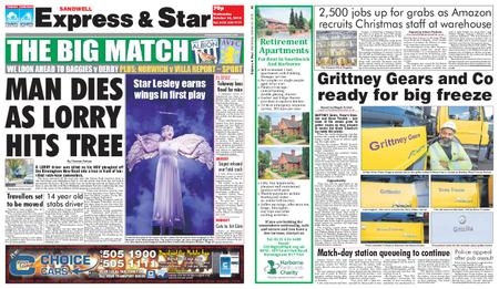 Express and Star Sandwell Edition – October 24, 2018