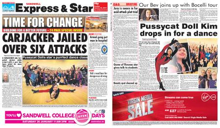 Express and Star Sandwell Edition – January 22, 2019