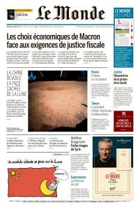 Le Monde du Vendredi 4 Janvier 2019