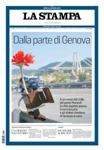 La Stampa Torino Provincia e Canavese - 14 Settembre 2018