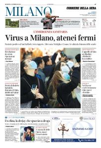 Corriere della Sera Milano – 23 febbraio 2020