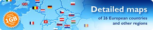 Europe maps for iGo 2006