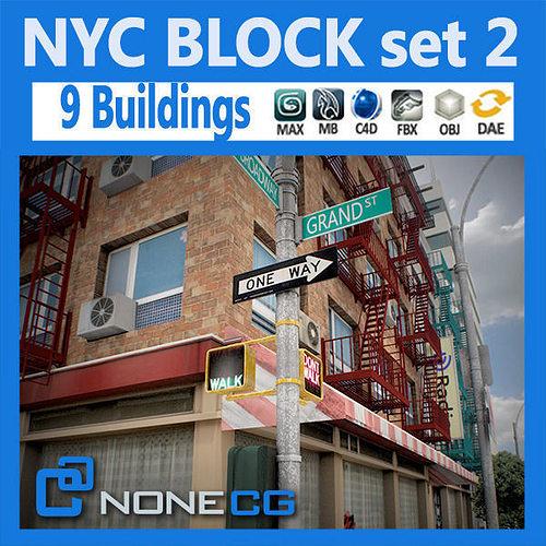 Cgtrader - NYC Block Set 2 3D model